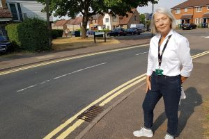 NEW YELLOW LINES IN CRAWLEY DRIVE