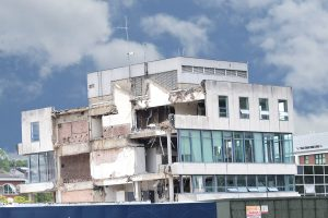 DEMOLITION OF CIVIC CENTRE IS PUT BACK